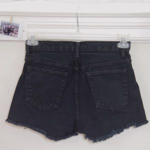 brandy melville high waisted jean shorts